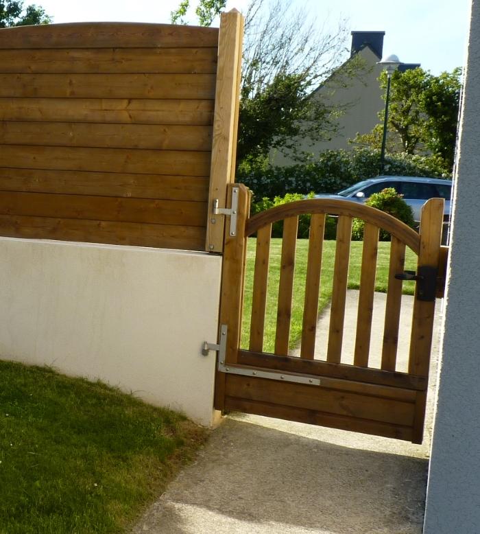 Palissade portail - Portillon jardin bois ...