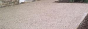 Terrasse en béton lavé